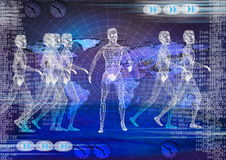 Tech background. Biomedical electronic technology Royalty Free Stock Photos