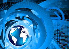 Tech background with globe. Clip-art Stock Images