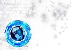 Tech background with globe. Abstract tech background with globe Stock Image
