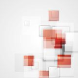 Tech background with red squares Royalty Free Stock Photo