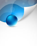 Tech background with sphere. In blue color. Abstract illustration Royalty Free Stock Image