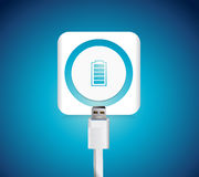 Tech battery recharge illustration design Stock Photography
