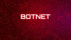 Tech Binary Code Red Background. Botnet Attack royalty free illustration