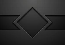 Tech black concept corporate vector design Royalty Free Stock Images
