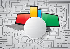 Tech blank. Illustration of colorful screen technology with blank area Royalty Free Stock Photography