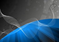 Tech blue background. Clip-art Royalty Free Stock Images