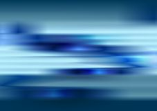 Tech blue blurred stripes abstract background Stock Image
