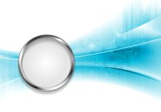 Tech bright background with metal circle. Vector design template Royalty Free Stock Images