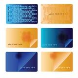 Tech business cards set Royalty Free Stock Photos