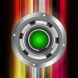 Tech circle   on abstract  background Stock Image