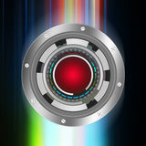 Tech circle   on abstract  background Stock Images