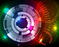 Tech circle background. Colorful tech circle background on mesh vector illustration