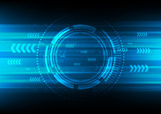 Tech circle and technology background Royalty Free Stock Photo