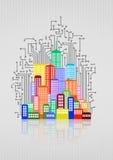 Tech city electronic Stock Image