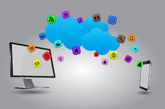 Tech cloud Stock Photo