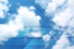 Tech cloudscape collage. Gradient mesh Stock Image