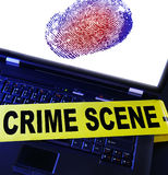 Tech crime Stock Image