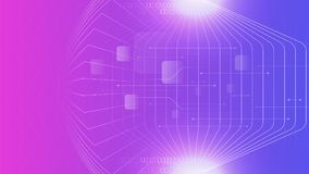Tech cyber purple colour abstract background. Tech cyber purple colour lines and light elements abstract background stock illustration