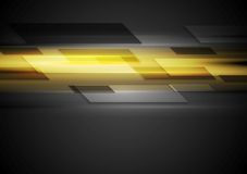 Tech dark background with yellow glowing light Royalty Free Stock Images