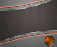 Tech Dark Shapes Orange Background Stock Image