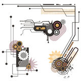 Tech design elements series Stock Images