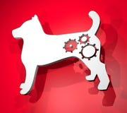 Tech dog Royalty Free Stock Photo