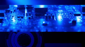 Tech electronic computer background stock video