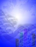tech för 2 blue Fotografering för Bildbyråer