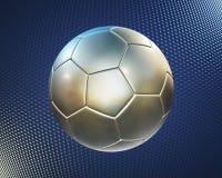 tech för blå fotboll för bakgrund hög metallisk royaltyfri illustrationer