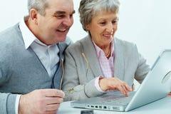 Tech för pensionär arkivbilder