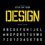 Tech Font and alphabet vector, Technology Typeface and letter number design, Graphic text on background. Font and alphabetical vector on background, letter and stock illustration