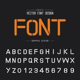Tech Font and alphabet vector, Technology Typeface letter and number design, Graphic text on background. Font and alphabetical vector on background, letter and stock illustration