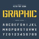 Tech Font and Graphic alphabet vector, Technology Bold Modern Typeface and letter number design. Font and alphabetical vector on background, letter and text royalty free illustration