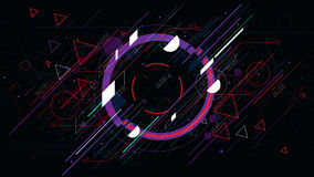 Tech futuristic abstract backgrounds, colorful circle. Elements for design vector illustration