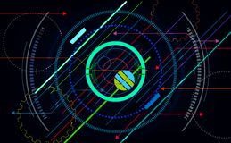 Tech futuristic abstract backgrounds, colorful circle. vector illustration  eps10 stock illustration