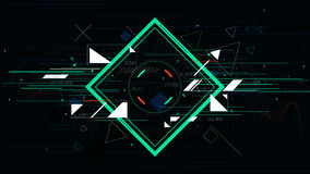 Tech futuristic abstract backgrounds, colorful square. Elements for design royalty free illustration