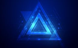 Tech futuristic abstract backgrounds, colorful triangle. vector illustration  eps10 stock illustration