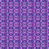 Tech Futuristic Geometric Pattern. Digital art style futuristic or tech geometric abstract seamless pattern in cold tones Stock Photo