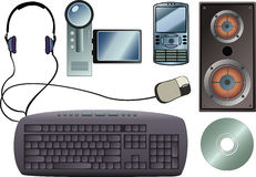 Tech Gadgets. Some common tech gadgets (everything's in layers Stock Photography