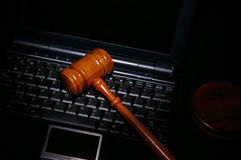 Tech gavel Royalty Free Stock Photography