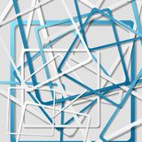 Tech geometric abstract squares background Stock Photos