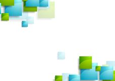 Tech geometric background with bright squares Stock Photography