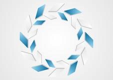 Tech geometric blue white logo design Royalty Free Stock Photography