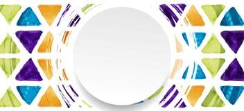 Tech geometric grunge banner and blank circle Stock Photo