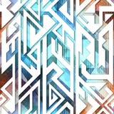 Tech geometric seamless pattern. Eps 10 vector file Stock Illustration