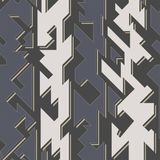 Tech geometric seamless pattern Royalty Free Stock Images
