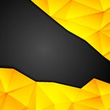 Tech geometry yellow and black background Stock Images