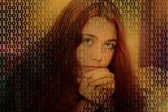 tech girl royalty free stock photo