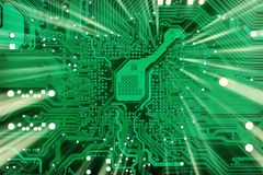 Tech industrial electronic green background Stock Photo
