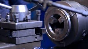 Tech mechanics Inspector hand checks milling stock video